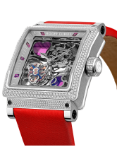 ROGER DUBUIS 38 KING SQUARE HEARTS TOURBILLON WATCH FOR VALENTINE'S DAY