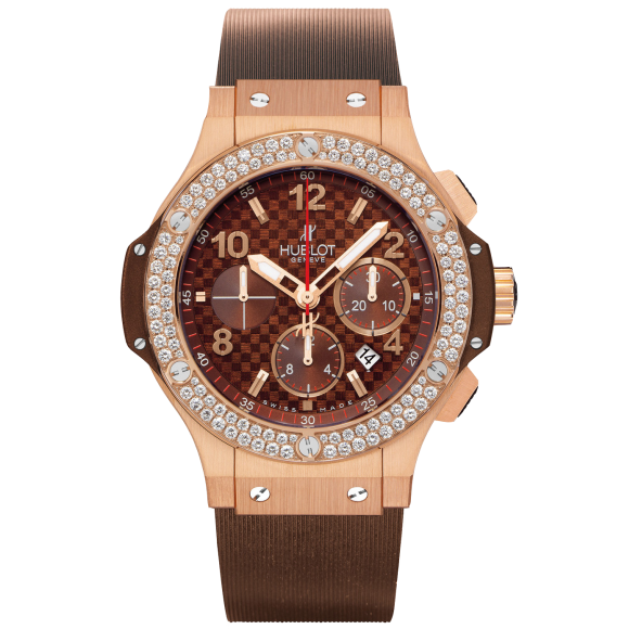 HUBLOT BIG BANG 41 MM RED GOLD CAPPUCCINO DIAMONDS
