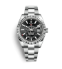 ROLEX SKY-DWELLER 42 MM, STEEL AND WHITE GOLD